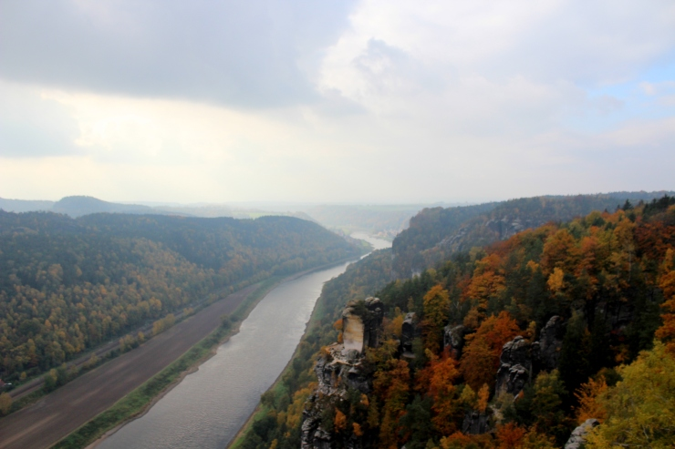 The Elbe from above
